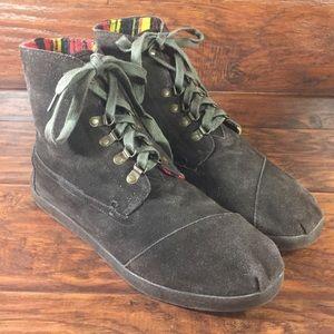 Toms Botas Highland Boots Mens 12 Brown Suede